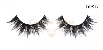 Handmade comfortable natural double-layered synthetic lashes DPS13 (1)
