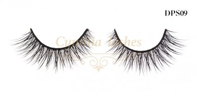 Handmade high quality double-layered synthetic lashes DPS09 (1)
